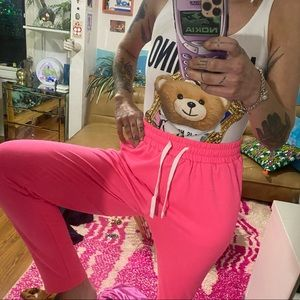 Bright pink joggers/sweatpants NWOT